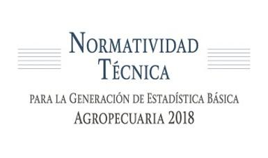 La Normatividad Técnica para la Generación de Estadística Básica Agropecuaria contiene la base conceptual, lineamientos, procedimientos, criterios e instrumentos a utilizar en el proceso de obtención de información para los subsectores agrícola y pecuario