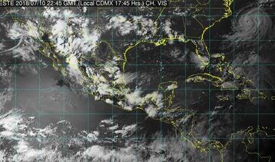 Tormentas intensas se prevén para esta noche en zonas de Puebla, Veracruz, Oaxaca y Chiapas.