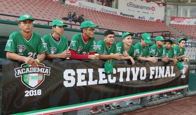 Los 10 selectivos de Academia CONADE Béisbol alrededor de la República Mexicana llegaron a su fin y con ello comienzan las finales de este programa deportivo y educativo de la Comisión Nacional de Cultura Física y Deporte en el Estadio Fray Nano.