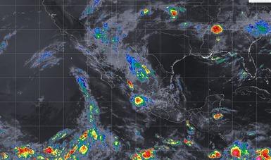 Imagen satelital que muestra las condiciones del tiempo en los estados mexicanos.