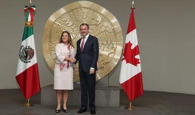 Canciller Luis Videgaray y la Ministra de Relaciones Exteriores de Canadá, Chrystia Freeland