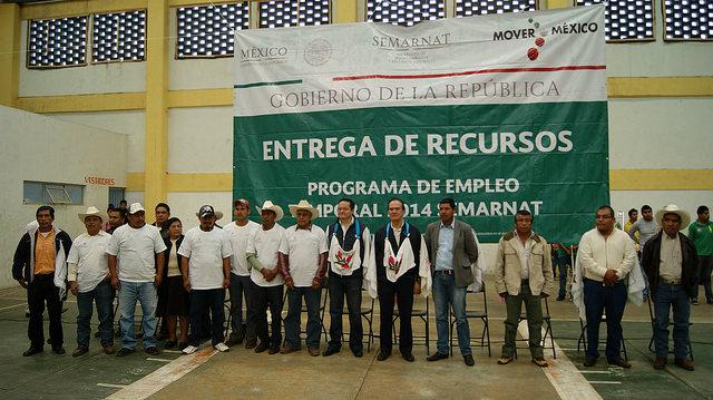Entrega de PET en Michoacán.