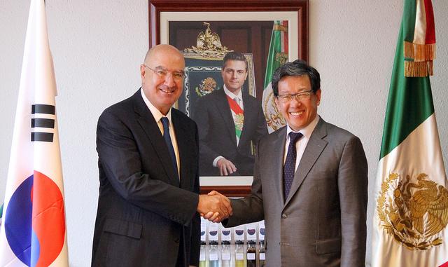 Visita a México del Embajador de la República de Corea, Chun Bee-ho