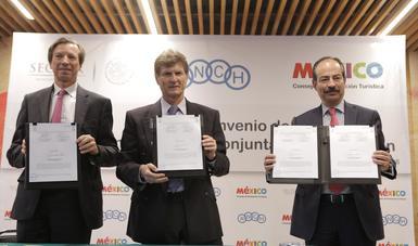 Firma del convenio de colaboración entre la Asociación Nacional de Cadenas de Hoteles y el Consejo de Promoción Turística de México
