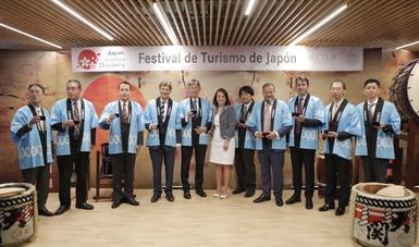 Inauguración del Festival de Turismo de Japón en México