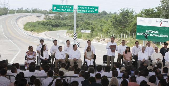 Inauguró el Presidente Peña Nieto la autopista Nuevo Xcan-Playa del Carmen; se invirtieron mil 200 MDP