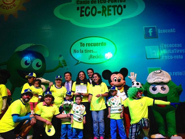 En el ECO RETO del ciclo escolar 2013-2014 participaron más de 6 mil 900 escuelas de distintos niveles, desde jardín de niños hasta preparatorias