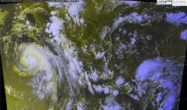 Imagen satelital de México con filtros de humedad.