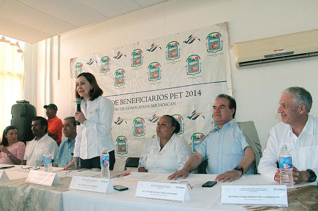 Martha Garciarivas, coordinadora de delegaciones de Semarnat, de gira en Michoacán
