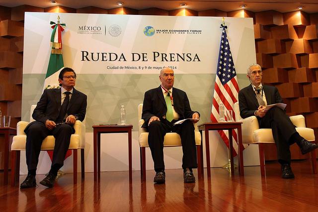 Juan José Guerra, Armando Quintero Mateos y Todd Stern en Foro sobre Energía y Clima (MEF)