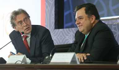Yves Moury, Presidente de Fundación Capital y Jaime Gutiérrez Casas, Coordinador Nacional de PROSPERA