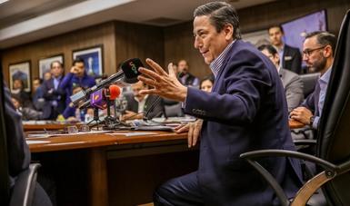 Baltazar Hinojosa Ochoa, conferencia de prensa