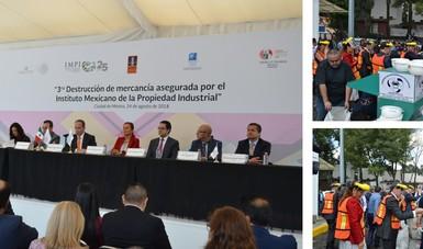 4, 616,140 productos fueron destruidos durante la 3ra Destrucción de Mercancía asegurada por el Instituto Mexicano de la Propiedad Industrial