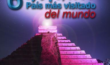 México el 6to país más visitado en el mundo.