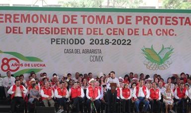 Presidente Peña en presidium
