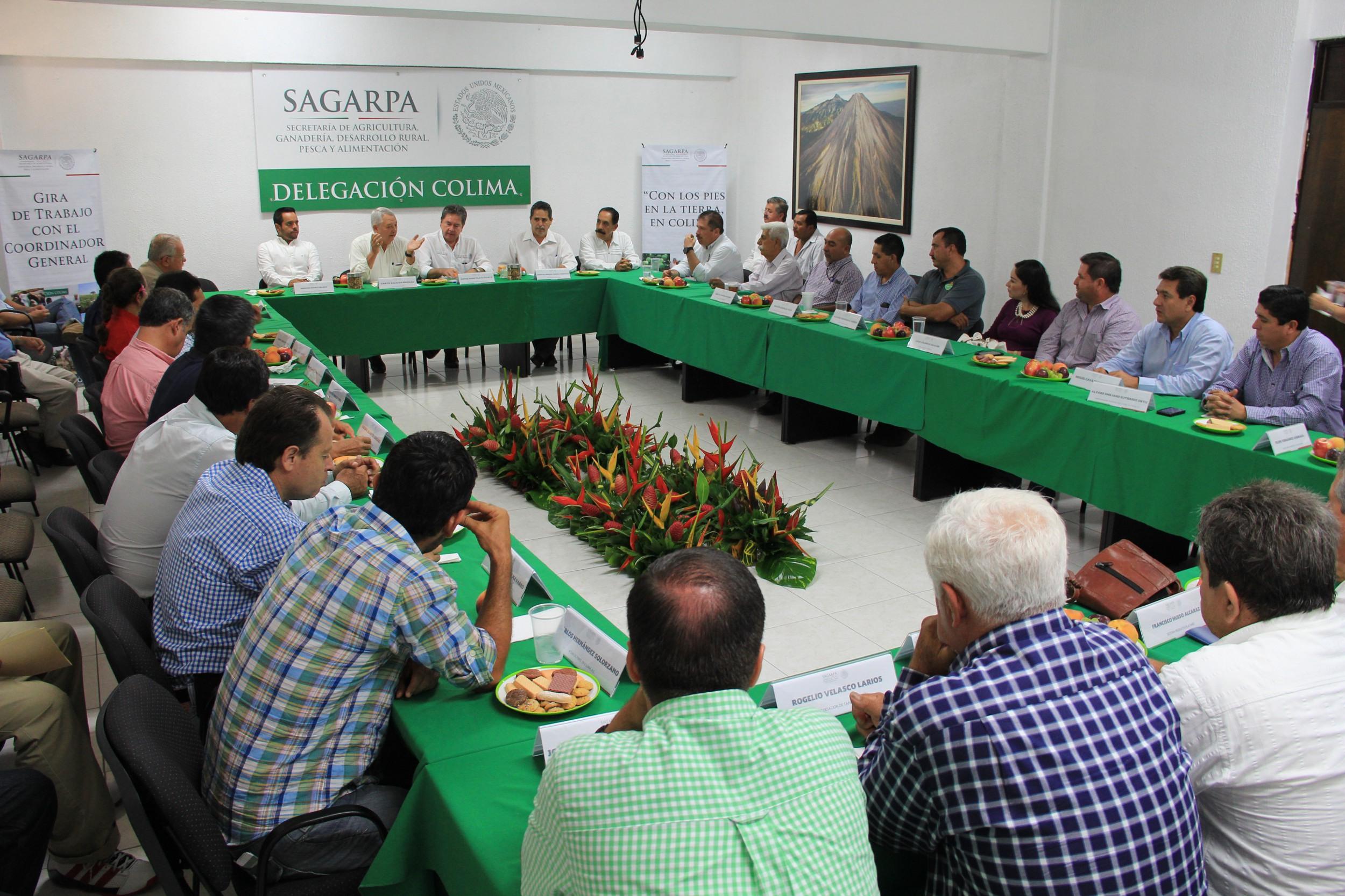 Destacan coordinación entre productores y SAGARPA en Colima