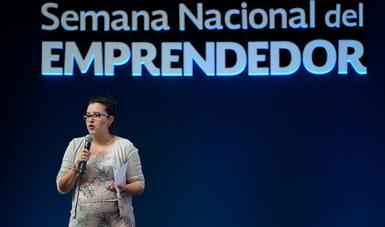 """""""El ecosistema emprendedor es un espacio que, sin duda, México necesita"""": Elizabeth Nava, galardonada."""