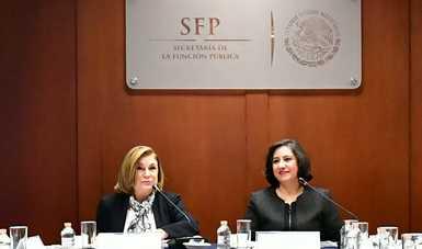 Avanzan trabajos de transición en la SFP con encuentro entre su Titular e Irma Eréndira Sandoval