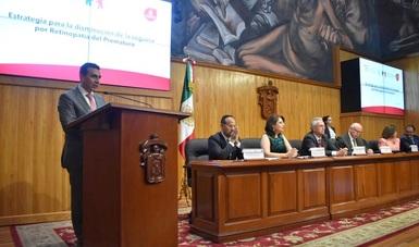 El Secretario de Salud, doctor José Narro Robles y el Comisionado Nacional del Seguro Popular, maestro Antonio Chemor Ruiz, pusieron en marcha la Estrategia para la Disminución de la Ceguera por Retinopatía del Prematuro, en Guadalajara, Jalisco.