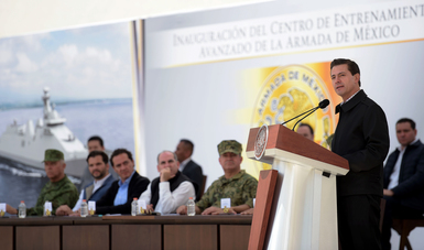 El Primer Mandatario entregó las instalaciones del Centro de Entrenamiento Avanzado de la Armada de México.
