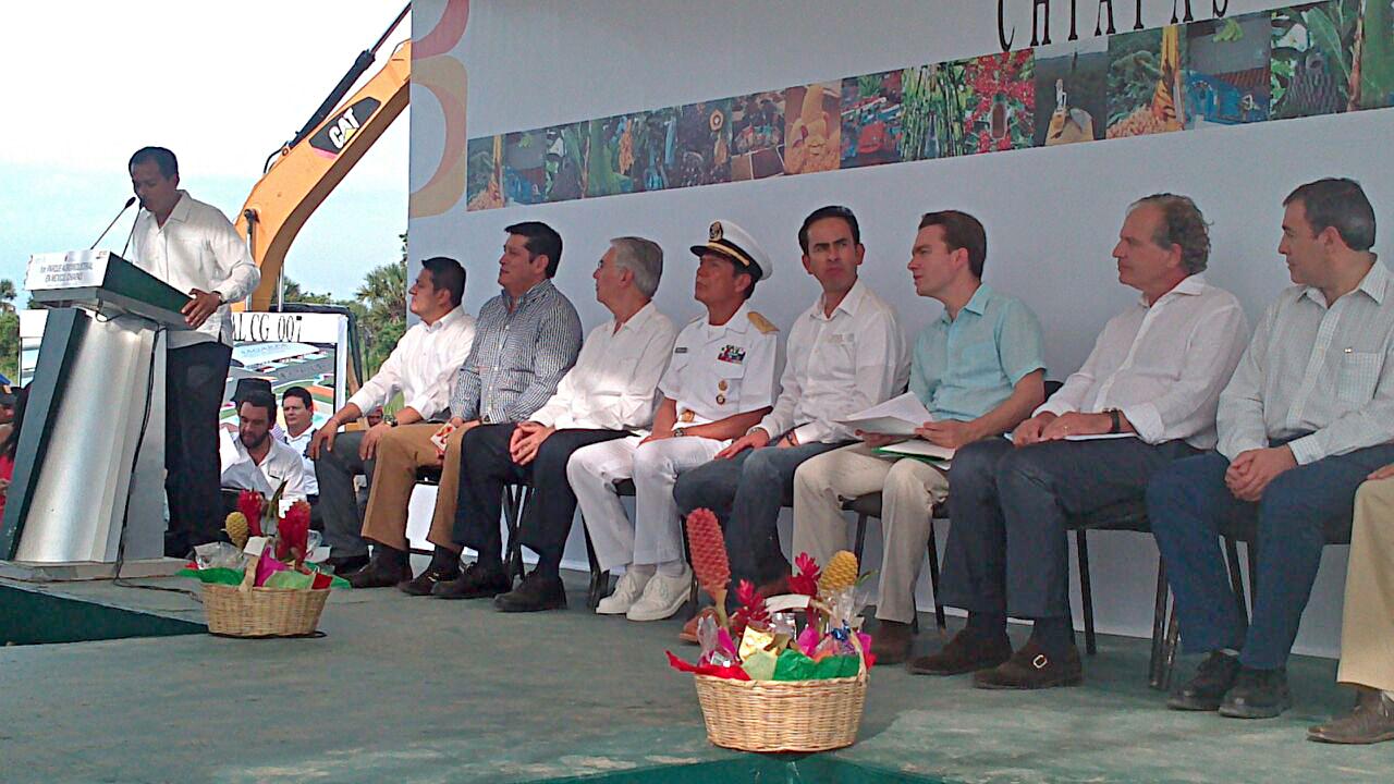 Colocan en Chiapas primera piedra de Agroparque para el Desarrollo Regional del Sureste