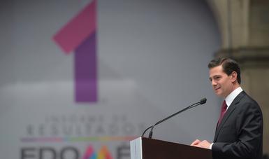 """""""En lo que va de la Administración, en el Estado de México se han generado 276 mil nuevos empleos formales, uno de cada seis puestos de trabajo se registra en la entidad"""": EPN"""