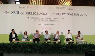 Siete ponentes participan en mesa del XVII Congreso Nacional de Bibliotecas Públicas.