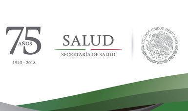 Logotipo de los 75 años de la Secretaría de Salud.