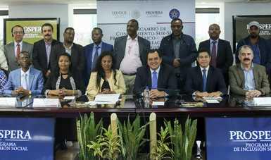 Visita de la Agencia Federal de Creación de Empleos y Seguridad Alimentaria de Etiopía a México