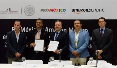 Firman ProMéxico y Amazon convenio para apoyar a pymes mexicanas a través del comercio electrónico