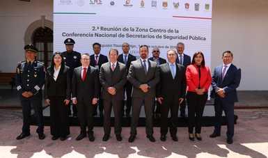 Exhorta CNS a Secretarios de Seguridad Pública de la Zona Centro del país, a ofrecer un servicio público de calidad a favor de la ciudadanía.