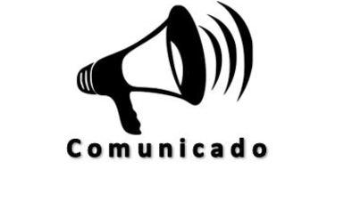 imagen de un megafono con la palabra comunicado