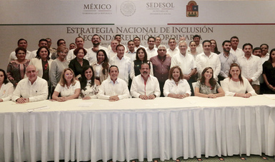 Srio. Eviel Pérez Magaña en la segunda reunión ordinaria de la ENI