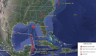 """SEMAR activa el Plan Marina en su fase de prevención en los Estados de Quintana Roo y Yucatán, por la presencia de la Tormenta Tropical """"Michael"""""""