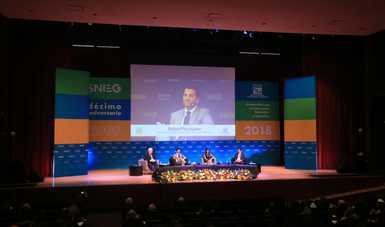 El Secretario Rafael Pacchiano participó en el panel Información Geográfica, Medio Ambiente, Ordenamiento Territorial y Urbano