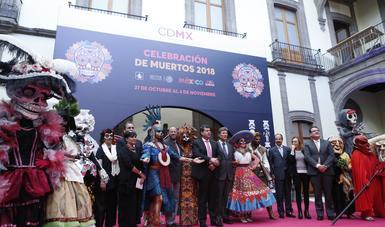 Conferencia de prensa para la presentación del Desfile y Mega Ofrenda del Día De Muertos en CDMX