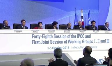 Inauguración de la Sesión 48 del IPCC en Korea, 1 al 5 de octubre del 2018