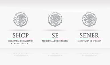 Logo de Secretaría de Hacienda, Secretaría de Economía y Secretaría de Energía