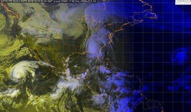 Imagen satelital del territorio mexicano con filtros de vapor.