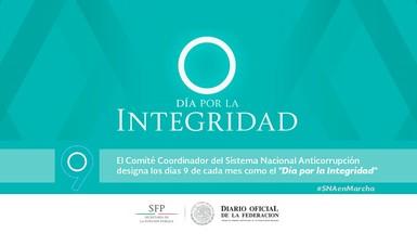 Publica DOF acuerdo que establece el Día por la Integridad