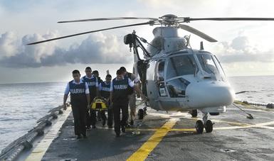 Operación de Búsqueda y Rescate de Largo Alcance de un Tripulante en Alta Mar