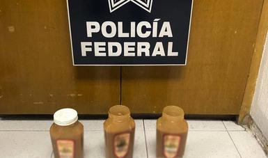 La aparente droga oculta en frascos de cajeta de Celaya, Guanajuato, tenía como destino el estado de Texas en Estados Unidos.