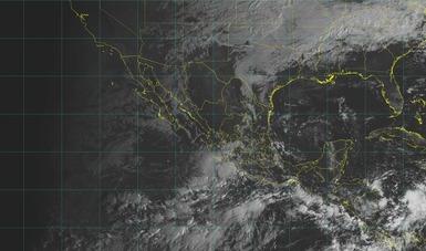 Imagen satelital sobre el territorio nacional con filtros de vapor.