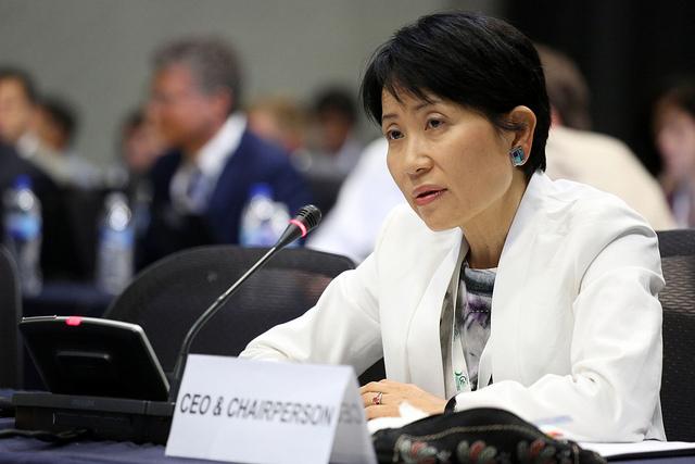 La Presidenta y Directora Ejecutiva del GEF, la Dra. Naoko Ishii