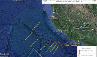 """La Secretaría de Marina-Armada de México activa el Plan Marina en su fase de prevención en los estados de Colima, Jalisco y Michoacán por Tormenta Tropical """"Tara"""""""