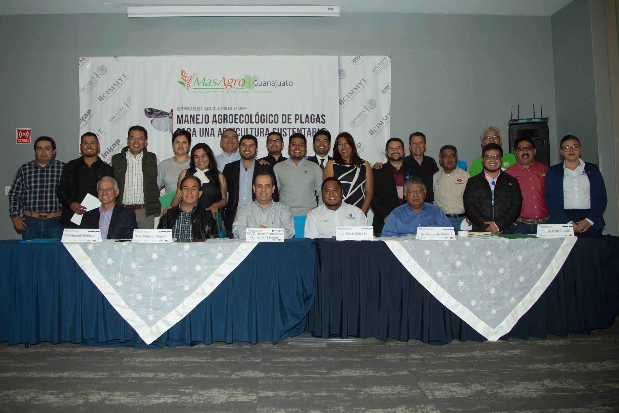 Grupal en clausura curso map guanajuato 2018