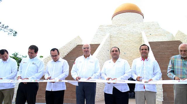 EL Secretario Guerra Abud y el Gobernador de Quintana Roo en Centro de Educación Climática