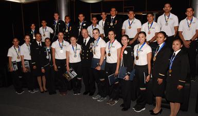 La Secretaría de Marina - Armada de México reconoce el destacado desempeño de los atletas navales de alto rendimiento