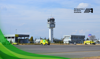 """Práctica de """"Búsqueda y Rescate"""" en Aeropuerto Internacional de Puebla"""