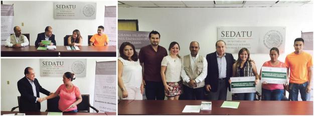 En la imagen, el subsecretario de Desarrollo Agrario de la SEDATU, Arturo Nahle García, junto con jóvenes de Coahuila que recibieron recursos del Programa de Apoyo a Jóvenes Emprendedores Agrarios.